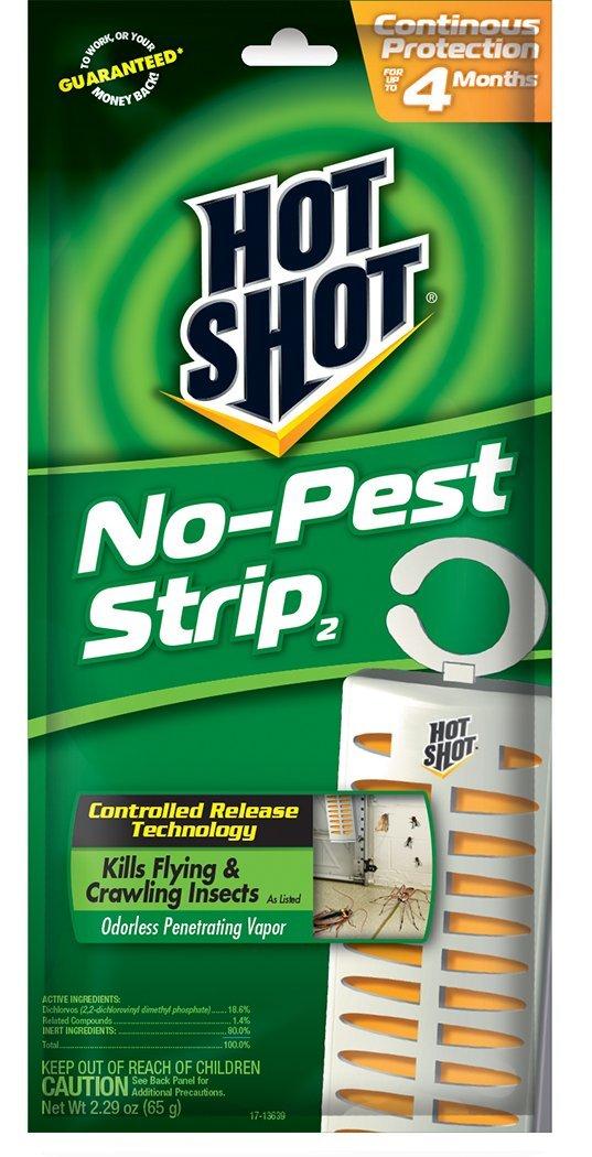 12 PACK Hot Shot No Pest Strip Unscented Hanging Vapor Insect Repellent